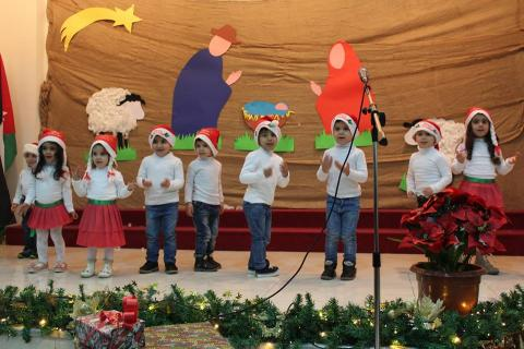 The Kindergarten class preforming at the Christmas pageant.